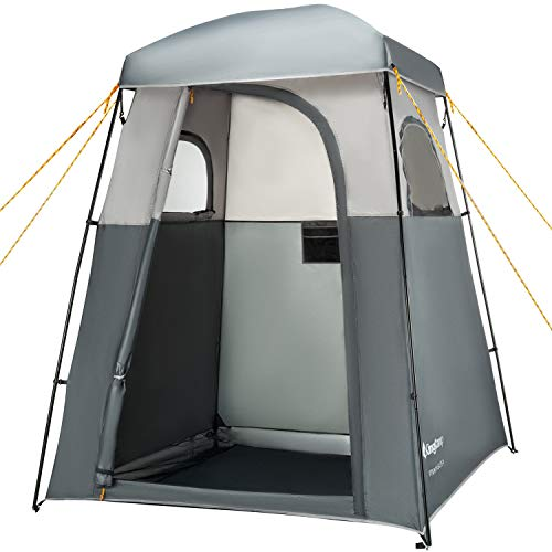 KingCamp Oversize Outdoor Easy Up Portable Dressing Changing Room Shower Privacy Shelter Tent, GRAY