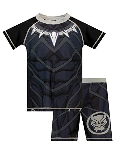 Marvel Jungen Black Panther Zweiteiliger Badeanzug Schwarz 134