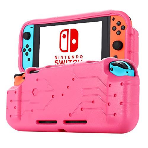 cradle HR Caja protectora Compatible con para el interruptor Nintendo 2017, caja protectora de peso de luz de EVA.(magenta)