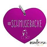 'Marque Cheval # Doudou Mâchoire en violet de Soul Horse pour licol, bridon et brbn