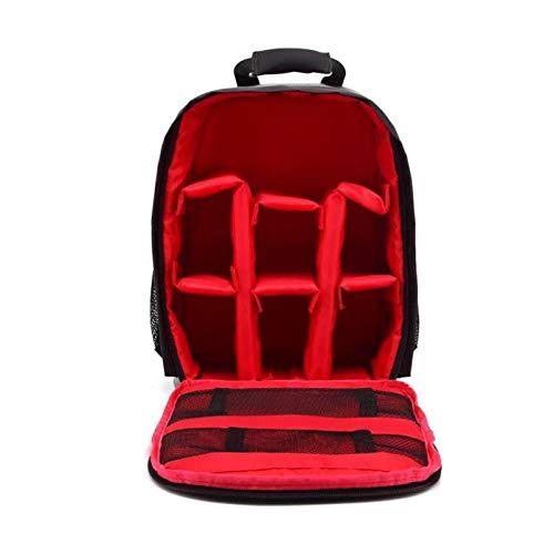 HLIANG Camera Bag Multi-functional Waterproof Dslr Camera Photo Lens Bag Backpack Knapsack Large Capacity Portable Travel For Outside Photography Dslr Camera Bag (Color : Type 2 Red)