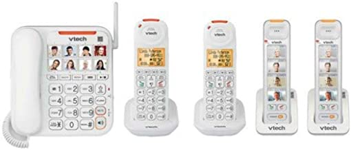 $258 » VTech SN5147 Amplfied Corded/Cordless System with VTech (2) SN5307 Photo Dial Accessory Handset & VTech SN5107 Big Button ...