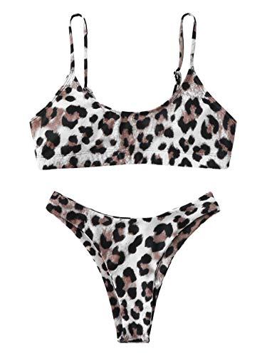 SOLY HUX Mujer Conjunto De Bikini de Leopardo