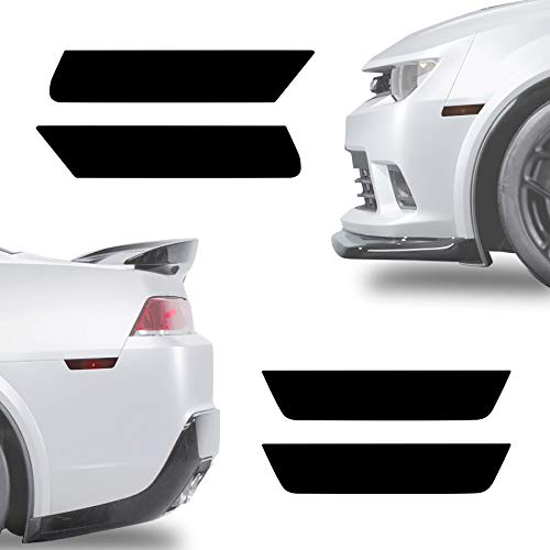 NDRUSH Blackout Side Marker Lights Vinyl Tint Film Precut Overlay Front Rear Sidemarker Wrap Cover Compatible with Chevy Camaro 2010-2015