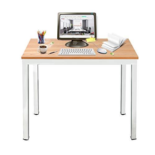 DlandHome Mesa de Ordenador 100x60cm Escritorio de Oficina Mesa de Estudio Puesto de Trabajo Mesa de...