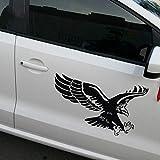 Morninganswer Eagle Flying Car Pegatinas 3D de fibra de carbono de vinilo para coche, rollo de papel para decoración de coche