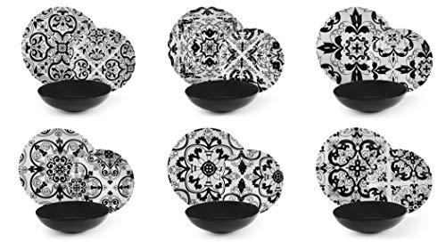 Excelsa Florence Vajilla de 18 piezas, porcelana y cerámica Stoneware