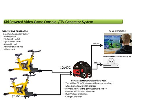 Video Console TV Systems - 2 Person Bike Generator System for powering Video Games
