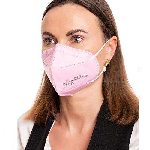 ProMedicalCare. Mundschutz FFP2 Maske rosa, Mundschutz Maske FFP2 pink, Masken Mundschutz FFP2, 5er Pack