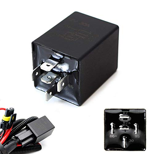 iJDMTOY (1) 10-Second Time Delay Relay Module, 5-Pin 12V 30A SPDT, Compatible With Automotive Lighting