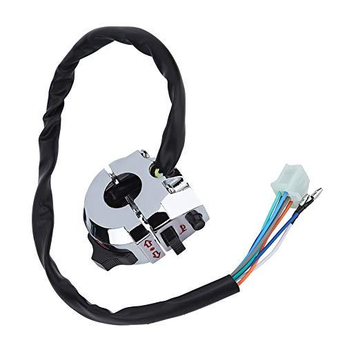 Botón del interruptor de control del manillar de la motocicleta de 7/8', interruptor de función del botón de control del cuerno de las luces antiniebla del freno del faro del manillar de la motocicle
