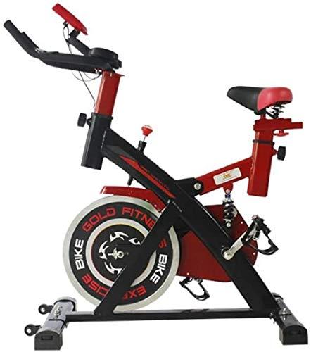 Entrenadores de bicicleta para interior de bicicleta de resistencia magnética, 6 kg, rueda de inercia, entrenamiento cardiovascular, con monitor multifuncional y amortiguador de resorte