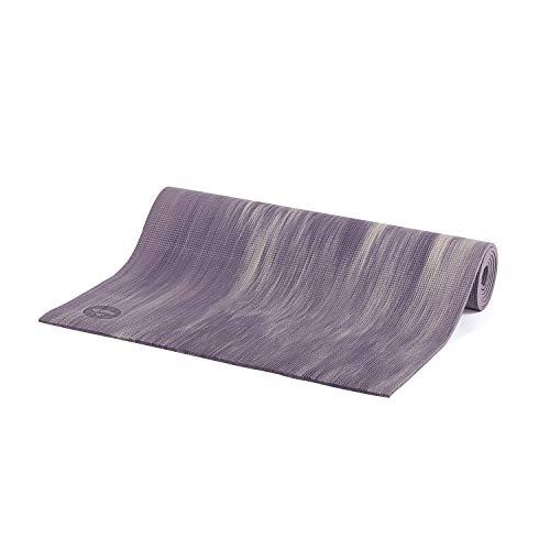 Tapete de Yoga tie dye ganges, PVC eco, confortável, yoga mat indicado para iniciantes, ginástica e pilates 183x60cm (Blueberry/Vanilla)