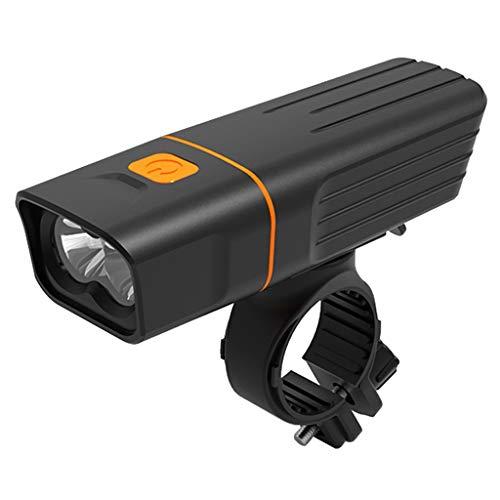DNOQN Fahrradlicht Fahrradlampenset Fahrradbeleuchtung USB Aufladbar und Wasserdicht Bright 2*XML-T6 LED Frontlicht 4000mAH Fahrradlampe Aufladbar USB (Schwarz, Packing Size: 160mm*136mm*33mm)