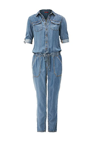 s.Oliver Damen Jumpsuit, Blau (Blue Denim Stretch) - 4