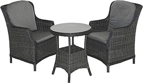 Two Lounge Chairs Garden Suite, with a Table and Outdoor Patio Furniture Sets Conservatory Furniture,Grey