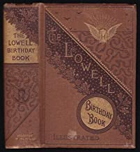 1883 Antique Lowell Birthday Book Victorian Gilt Binding Winged Hourglass Symbol