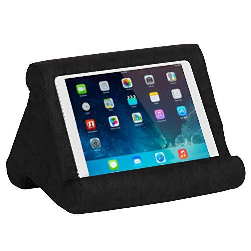 VECELO Support Tablette Multi-Angles, Coussin de Support Universel Soft Pillow Lavable pour Pad, Phone, Livres (Noir)
