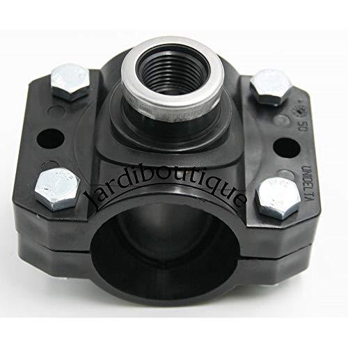 Jardiboutique Anbohrschelle  mit Verstärkung Durchmesser 50 mm 1/2 Zoll – 4 Spannschrauben