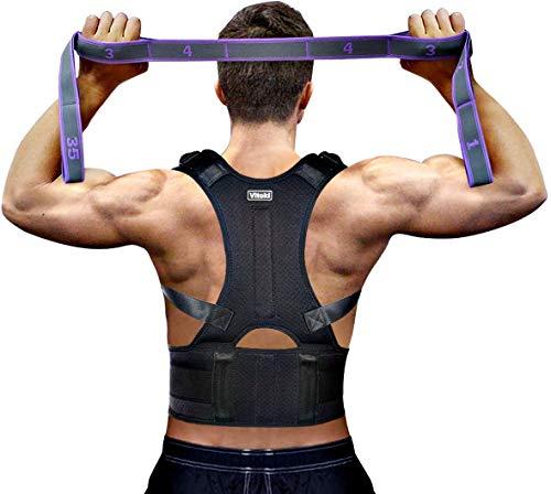 Vitoki Posture Corrector for Men Women Come with Back Training Strap Adjustable Back Brace kyphosis Brace Medium