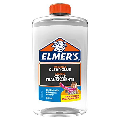 Elmer's Flüssiger Bastelkleber | Transparent | 946 ml | Auswaschbarer Kinderkleber | Ideal zur Herstellung von Schleim