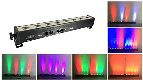 Par bar led wall Wash luz de la etapa,TOM 8pcsX3W RGB 3-IN-1 LED Y la casa de aluminio De 7 modos DMX512 para disco/fiesta/teatro(RGB par bar)