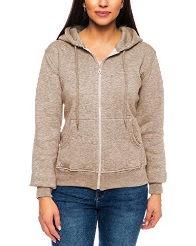 Crazy Age Cooler Zip Hoodie Kapuzenjacke Sweatjacke aus hochwertigen Baumwollmischung (Kakao (2908), 4XL~46/48)