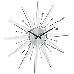 Telechron Mirrored Starburst Clock, Silver