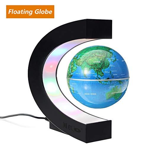 MECO ELEVERDE Floating Globe Light World Globe 7,6cm C a forma di globo, novità regali per bambini, decorazione casa/ufficio scrivania gadget