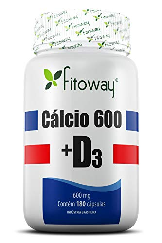 Cálcio 600 + D3 Fitoway - 180 Cáps, Fitoway