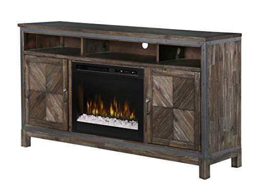 DIMPLEX Wyatt Media Console Electric Fireplace with Acrylic Ember Bed