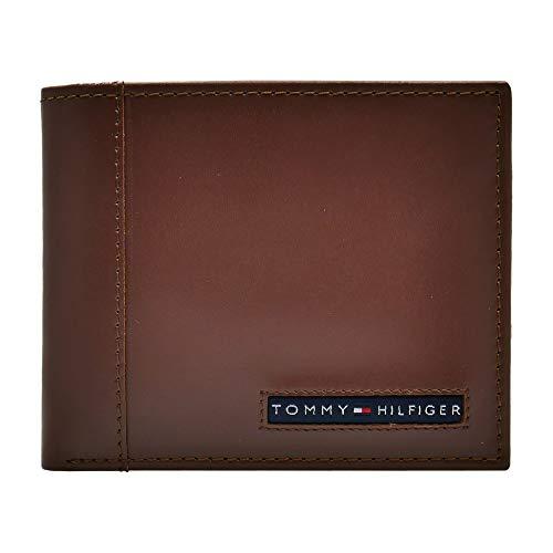 Tommy Hilfiger Cambridge Passcase cartera con tarjetero extraíble de cuero -  Beige -  talla única
