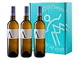 A de ANTIGVA Sauvignon Blanc - Vino blanco joven de la Tierra de Castilla - La Mancha - Caja de 3 Botellas x 750 ml
