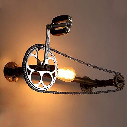De enige goede kwaliteit Decoratie Retro Stijl Wandlamp Industriële Loft Creatieve Persoonlijkheid Iron Bar Cafe Aisle Gear Fiets Water Wandlamp 58 * 21cm