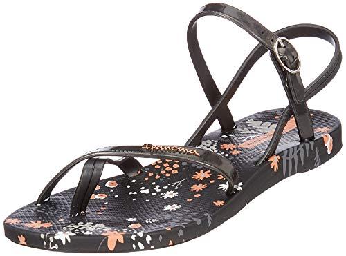 Ipanema Damen Fashion Sand VI FEM Slingback Sandalen, Mehrfarbig (Black/Black 8023), 39 EU
