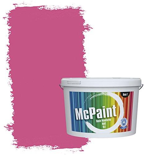 McPaint Bunte Wandfarbe Himbeere - 10 Liter - Weitere Violette Farbtöne Erhältlich - Weitere Größen Verfügbar