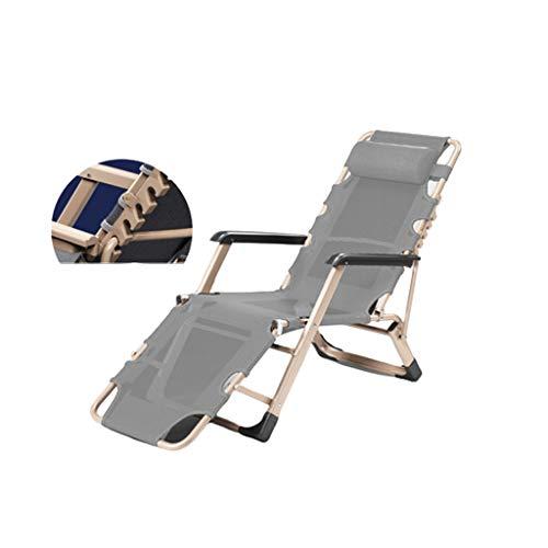 N / A Silla De Playa Portátil, Silla De Ocio Plegable Transpirable de Gravedad Cero para Acampar En Piscinas Cubiertas, con 200 Kg(Color:Gris A)