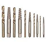 XY-YZGF - Juego de 10 brocas para taladro de mano, brocas extractoras para herramientas eléctricas de metal con revestimiento de nitruro de titanio