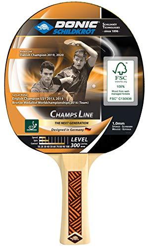 Donic-Schildkröt Tischtennisschläger Champs Line 300, 1,0 mm Schwamm, Jade - ITTF Belag, 705132