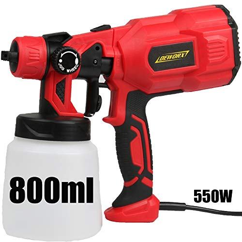 Paint Sprayer, 550W Electric Sprayer Paint Hand Held Spray Gun System Fence Sprayer for Wall & Ceiling Wood & Metal 800ml Paint Cups, 3 Painting Modes