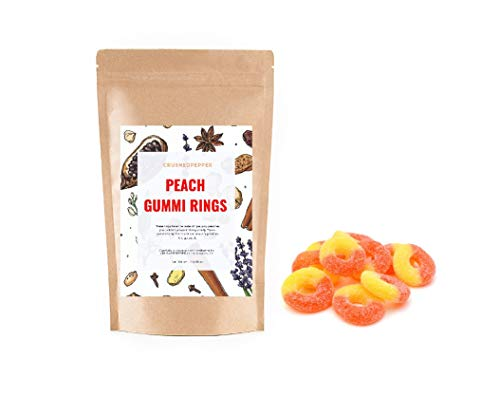 Peach Gummi Rings 1 lb / 16 oz Candy Snack Resealable bag
