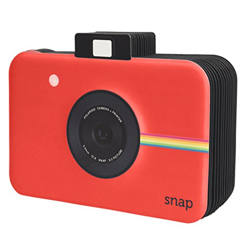 Polaroid Scrapbook Fotoalbum mit Schnappschuss-Themeneinband für 5 x 7, 5 cm Fotopapier-Projekte (Snap, Zip, Z2300) - rot