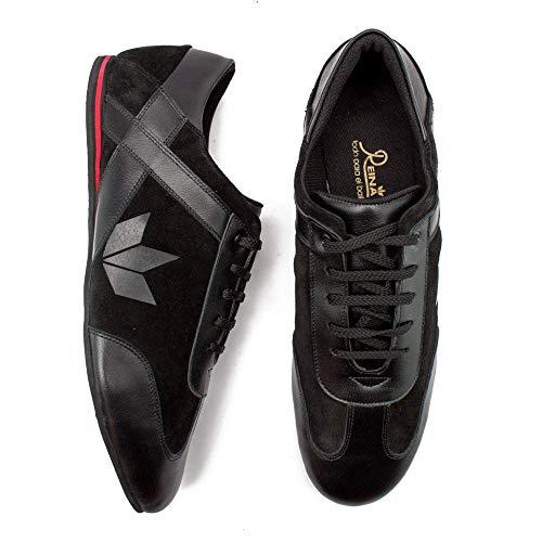 Manuel Reina - Zapatos de Baile Latino Hombre Zeus EVO Black - Bailar Bachata y Salsa