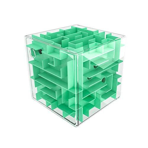 digitCUBE 3D Puzzle Kugellabyrinth Cube XL - Geschicklichkeitsspiel 10x10 cm - Jungen und Mädchen Geschenk (Grün)