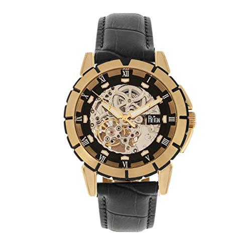 Reign Philippe REIRN4605 - Reloj automático con esfera de esqueleto, color negro