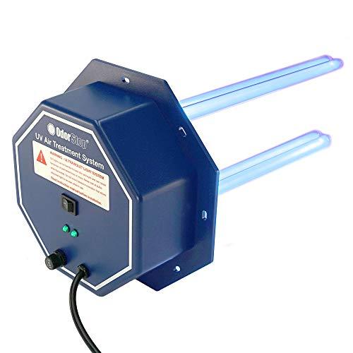 "OdorStop OS72PRO UV Air Purifier - 72 Watt System with Energy Saving Airflow Sensor and 16"" Bulbs (OS72PRO w/Air Flow Sensor, 16"" Bulbs)"