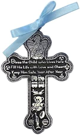 Cathedral Art CM6 shopping Baby Boy Quality inspection Cross 3-Inch Medal Crib High
