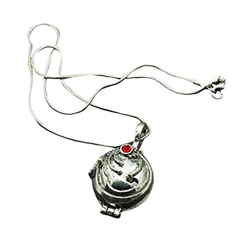 OMMO LEBEINDR Collar De Ornamento, Verbena Collar Medallón Golda El Vampiro Diarios De Elena (Plata Antigua)