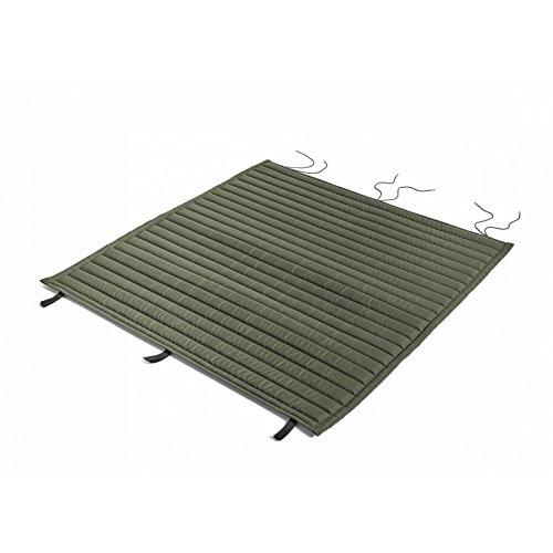 HAY Palissade gewatteerde kussen 107,5 x 104,5 cm, olijfgroen waterafstotend voor Palissade Dining Bank