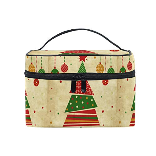 Moyyo Vintage Christma Tree Ornaments Hanging Makeup Bag Large Cosmetic Case Cosmetic Organizer Cosmetic Beauty Bag Travel Makeup Case Toiletry Organizer Bag Makeup Bags for Girls Kid Women